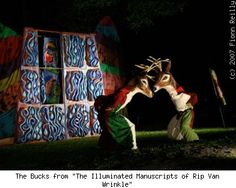 "'The Bucks from ""The Illuminated Manuscripts of Rip Van Wrinkle""' – © 2007 Fionn Reilly"