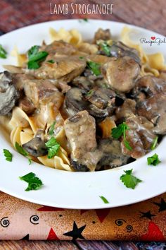 Slow Cooker Lamb Stroganoff - Don't like lamb? I'm sure this recipe is equally delicious with beef top sirloin.