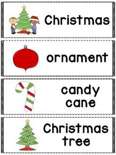 FREE! Christmas words great for a pocket chart, word wall or flash cards. Includes 28 Christmas themed words and pictures.