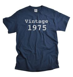 40th Birthday T-shirt, Vintage 1975