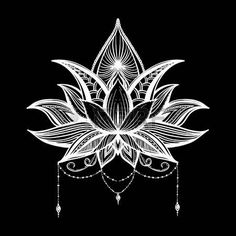 Portfolio d'images et de photos de stock de Kseniya Parkhimchyk Lotus Mandala, Lotus Flower, Black Paper Drawing, Lotus Drawing, Tattoo Bein, Lotus Tattoo, Rangoli Designs, Mandala Design, Fractal Art