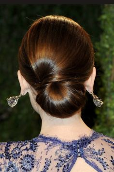 Lily Collins Oscars updo