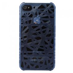 Bird's Nest Style Hard Protective Case for iPhone 4/4S Blue