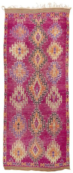 Mid Century Moroccan Rug 45098 | Nazmiyal Collection 5'10x15'; 6.000