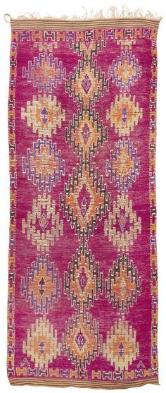 Mid Century Moroccan Rug 45098 | Nazmiyal Collection 5'10x15'; 6.000