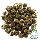 Premium Pearl jasmine The best Pearl Jasmine is made of tea leaves that harvested in early spring. Each earl of Pearl Jasmine is two delicate leaves and an unopened bud handrolled. When hot water is added, the pearl unfold and releasing it delicate jasmine scent and flavor.