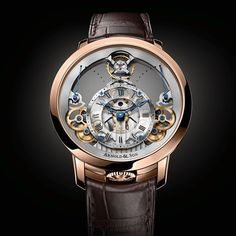 Arnold & Son #wotd #time #pyramid #history #technical #artistry #skeletonized #mechanical #movement #floating #80hour #powerreserve #handdecorated #brown #alligator #strap #rosegold #case #44.6mm #watch #watches #wristwatch #timepiece #iw #iwmag #luxury