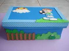 Resultado de imagem para caixas de papelão decoradas para presentes