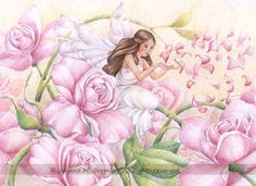 Yet another monstrously huge fairy painting. xD I really hope that this one stacks up to that first one I did. No surprise that roses came next xD I love roses ^^ they're my favorite flowers t...