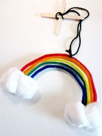 rainbow mobile --> perfect spring craft or st patty's day craft
