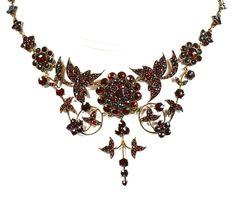 Glorious Victorian Bohemian Garnet Necklace