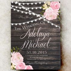 Hey, I found this really awesome Etsy listing at https://www.etsy.com/au/listing/248041956/rustic-wedding-invitation-printable