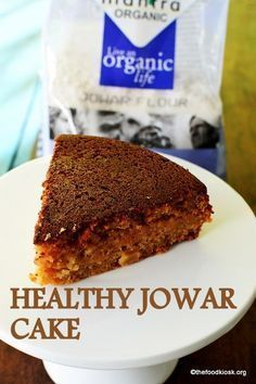 Healthy jowar/sorghum cake will please your tastebuds. This healthy version of jowar flour cake is delicious and the aroma brings in the essence of India. Healthy Cake Recipes, Healthy Baking, Indian Food Recipes, Dessert Recipes, Healthy Treats, Healthy Desserts, Healthy Foods, Salad Recipes, Jowar Recipes