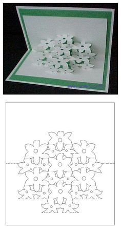 Pop up card template