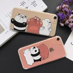 Lovely Cartoon Animal Bear Capa For iPhone 7 Case Cute Panda Soft TPU Phone Cases For 6 Plus Fashion Newest Fundas Cute Phone Cases, Iphone 7 Plus Cases, Iphone Phone Cases, Iphone 5s, Iphone Ringtone, Panda Mignon, Telephone Iphone, Plastic Memories, We Bare Bears Wallpapers