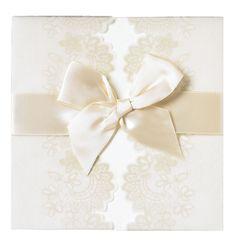 Anna Griffin, Ivory Vellum Lace Square Wrap Invitation - Invitations & Annoucements - Wedding - Invitations