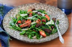 Chorizo, Manchego, and Sweet Potato Salad with Zesty Lemon Dressing from Healthy Green Kitchen