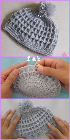 Crochet Crochet Waffle Stitch Beanies Hat Free Patterns with Video Tutorial - mützen - . Love, Waffle Stitch Beanies Hat Free Patterns with Video Tutorial - mützen - . Crochet Waffle Stitch Beanies Hat Free Patterns with Video Tutorial. Crochet Waffle Stitch, Crochet Cap, Crochet Motifs, Crochet Baby Hats, Diy Crochet, Crochet Stitches, Crochet Patterns, Hat Patterns, Tutorial Crochet