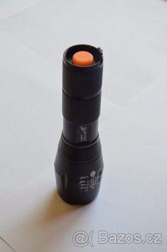 Nová Led CREE Baterka 1800lm - Prodám novou, pouze vyzkoušenou vysokovýkonnou profesionální baterku Led CREE 1800lm + ZOOM, vyrobené z vysoce kvalitní hliníkové slitiny (leteckého hliníku), tato baterka je robustní a dostatečně odolná pro každodenní použití, s taktickým spínačem na konci baterky s jemným mačkáním. Životnost: min. 100.000 hodin. Dosah: 500M. 5 Režimů: vysoký / střední / nízký / stroboskop / SOS / Zoom In / Zoom Out. Rozměry: 136mmx40mm (průměr reflektoru) x27mm (průměr těla)…