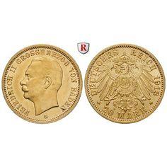 Deutsches Kaiserreich, Baden, Friedrich II., 20 Mark 1913, G, f.vz, J. 192: Friedrich II. 1907-1918. 20 Mark 1913 G. J. 192; GOLD,… #coins