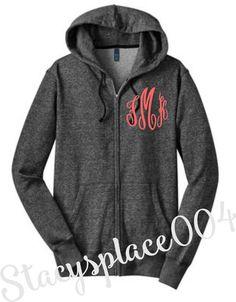 monogrammed sweater, monogrammed hoodie, monogrammed jacket