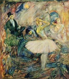 Henri de Toulouse-Lautrec (French:1864–1901) - The Dancer in Her Dressing Room (1885)