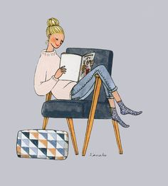 Kanako Illustratrice Agence Marie Bastille agent d'illustrateurs Illustration des parisiennes mode beauté portraits dessins bloggeuse personnages humour