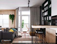 Thay vì bếp được đặt phía sau ghế sofa hoặc sâu bên trong. Thì căn bếp này lại khác, được đặt ngay trước sofa. #saokimdecor #livingroom #livingrooms#phòngkhách #リビング #saladeestar #wohnzimmer #salon #interior #interiordesign #interiors #apartment #apartments #chungcư #scandinavian #インテリア#interieur #innenraum #scandinavian