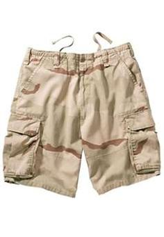 Ultra Force Tri-Color Desert Camo Vintage Paratrooper Cargo Shorts | Buy Now at camouflage.ca