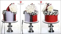 Ruffles and Roses cake by Red Polka-design Designs