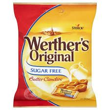 Werther's Original Sugar Free Butter Candies 80 g (Pack of Werther's Caramel, Dorset Cereals, Hard Candy Primer, Hard Candy Concealer, Gourmet Recipes, Snack Recipes, Bad Sugar, Hard Candy Molds, Packaging