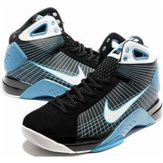 ac00d29d1e8c Cheap Nike Hyperdunk TB Olympic Womens Black Chlorine Blue White 324820 157 Kd  Shoes