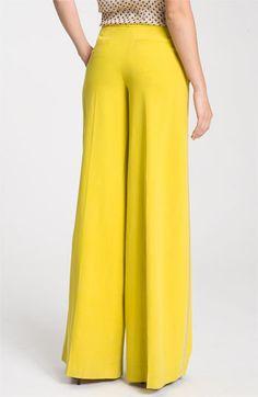 Citron <3  Robert Rodriguez Extreme Wide Leg Silk Tuxedo Pants