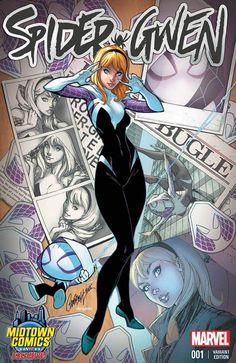 J Scott Campbell gwen Stacy Spiderman SpiderGwen Marvel 616, Marvel Comics, Bd Comics, Comics Girls, Marvel Heroes, Comic Book Artists, Comic Book Characters, Comic Books Art, Comic Art