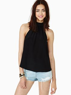 Drop shoping 2015 NEW ARRIVALS fashion strapless chiffon Blouse halter Neck tops high neck solid color loose Blouse #2 SV003058