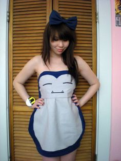 the Cutest Snorlax dress Eveeer !!!! And its DIY...  ^_^