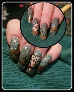 owls by Ivystar - Nail Art Gallery nailartgallery.nailsmag.com by Nails Magazine www.nailsmag.com #nailart