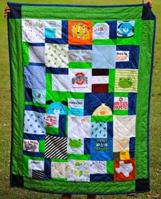 quilts from baby clothes | Quilt made from baby clothes | Ryker