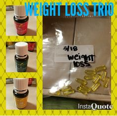 Young Living Essential Oils Weight Loss Trio! -4 drops peppermint -4 drops lemon -4 drops grapefruit Twice a day!!