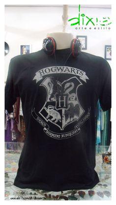 Camiseta Masculina Harry Potter www.elo7.com.br dixiearte Camisetas  Masculinas dd0d1bb91ac