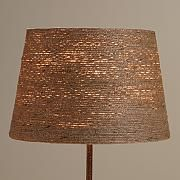 Twine-Wrapped Accent Lamp Shade
