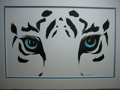 Large Snow Leopard Cavas Painting DIY