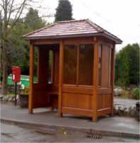 Denbigh enclosed wooden bus shelter