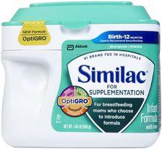 Similac for Supplementation Infant Formula With Iron- Powder - 23.2 oz Abbott Nutrition