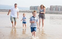 Beach family photoshoot - South Wales Child Photography by Sweet Whimsy Photography