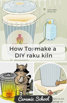 How to make a DIY Raku Kiln - Ceramic Art, Ceramic Pottery Raku Pottery, Pottery Tools, Pottery Classes, Pottery Art, Pottery Wheel, Pottery Ideas, Thrown Pottery, Slab Pottery, Pottery Designs