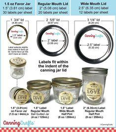 Vintage Spread the Love Jam Jar Wedding Canning Labels Pot Mason, Wide Mouth Mason Jars, Mason Jar Crafts, Jelly Jar Crafts, Canning Jar Labels, Canning Recipes, Jam Jar Labels, Jar Recipes, Jelly Recipes