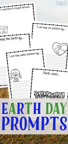 Earth Day Writing Prompts for Kids, your children will love celebrating Earth Day with these Coloring, drawing and Writing Prompts, encourage children to think about important issues like air pollution, water pollution, recycling, the importance of plants, and trees while helping with creative writing, Pollution writing Prompts for Kids, Kindergarten writing prompts, Free Writing Prompts for Kids, #writingprompts  #earthday #scienceforkids #pollution #springactivities #homeschool #recycling
