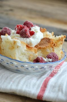 This homemade angel food cake is versatile, fat-free AND delicious!