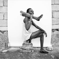 Fabienne Jean, a dancer who lost a leg in the 2010 quake in Haiti, now has a prosthetic limb. Dance makes up part of her exercise routine - by Damon Winter USA How To Be A Happy Person, Body Art Photography, Dance Like No One Is Watching, Lets Dance, People, At Least, Black And White, Portrait, My Love